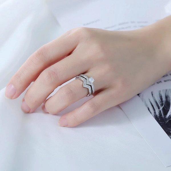 сребърен пръстен споделена любов