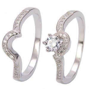 """Сребърен пръстен """"Завинаги Заедно"""""""