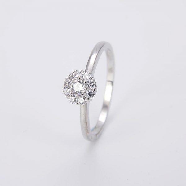 двоен пръстен сребро