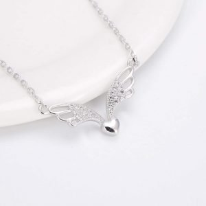 """Silver necklace """"Wings of Love"""""""