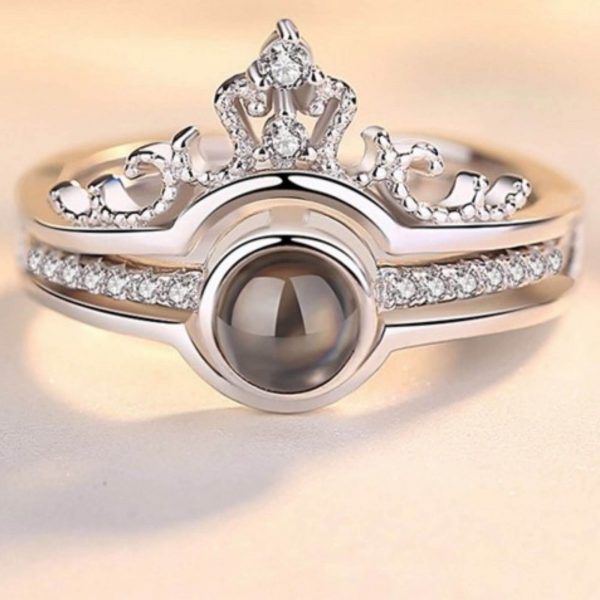 сребърен пръстен безгранична любов обичам те на 100 езика сниман централно