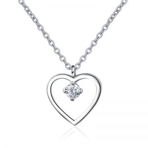 "Silver necklace ""Heart"""
