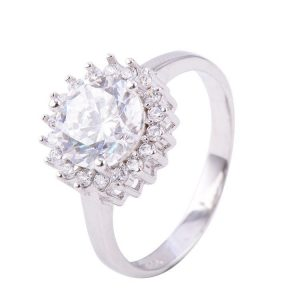 "Silver ring ""Diamond"""