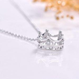 "Silver necklace ""Crown"""