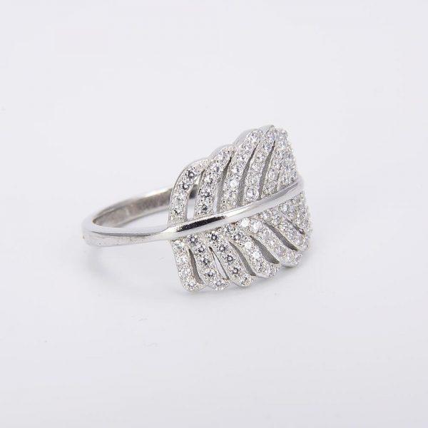 сребърен пръстен от сребро и кубичен цирконий