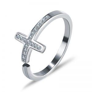 """Сребърен пръстен """"Вяра"""""""