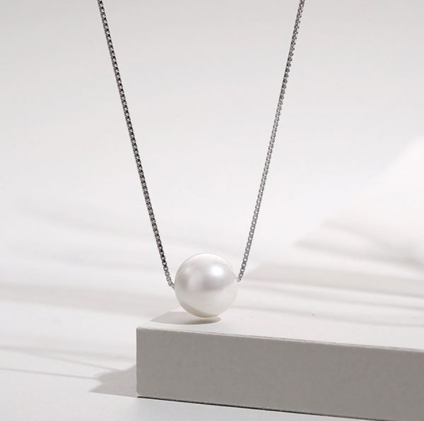 silver pearl and Venetian braid necklace