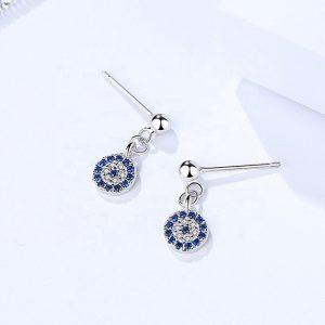 """Silver earrings """"Nazar"""""""