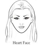 лице във формата на сърце