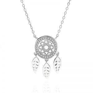 "Silver necklace ""Dreamcatcher"""