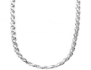 бижутерийна сребърна плетка тип въже изработена от сребро 925