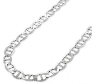 сребърно колие плетка тип котва моряк изработено от сребро 925