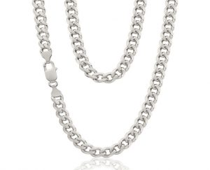 сребърно колие тип панцер или кърб от сребро 925