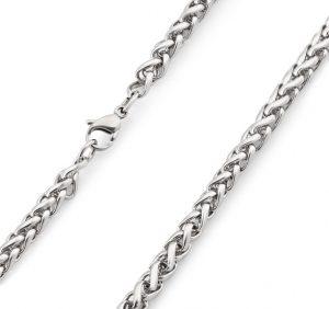 сребърна плетка колие тип житен клас сребро 925