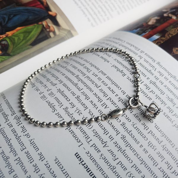 bracelet silver 925 Thai style with bead crown