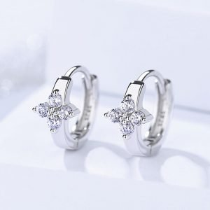 "Silver earrings ""Flower"""