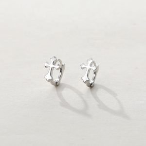 "Silver earrings ""Cross"""