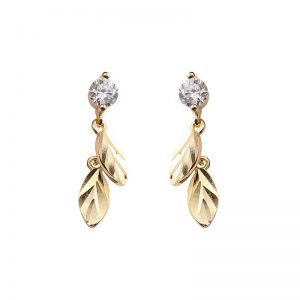 "Silver earrings ""Golden Feathers"""