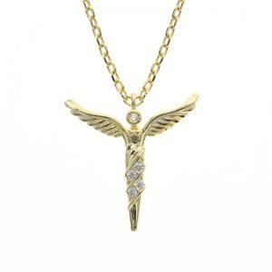 """Silver necklace """"Golden Wings"""""""