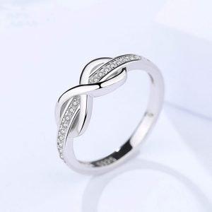 """Сребърен пръстен """"Безкрайност"""""""