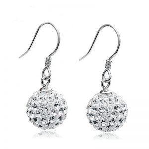 "Silver earrings ""Disco"""