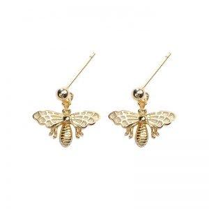 "Сребърни обеци ""Златни Пчели"""