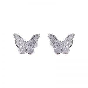 """Сребърни обеци """"Пеперуда"""""""