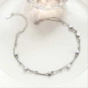 """Silver foot bracelet """"Summer Breeze"""""""