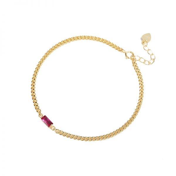 silver bracelet golden wool