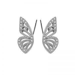 "Сребърни обеци ""Пеперудени Криле"""