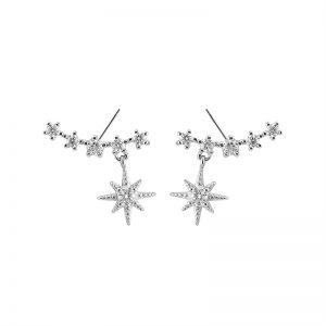 "Silver earrings ""Temptation"""