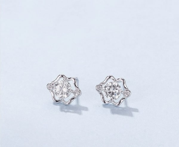 """zodiac silver earrings """"twins"""" photographed in close-up at an angle"""