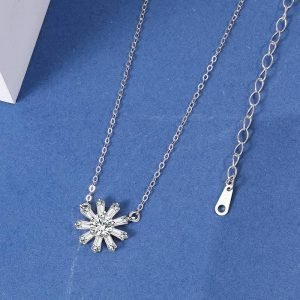 """Silver necklace """"Sunflower"""""""