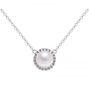 "Silver necklace ""Pearl Ball"""