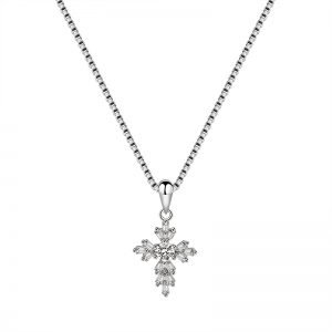 "Silver necklace ""Cross"""