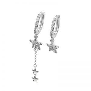 "Silver earrings ""Miracle"""