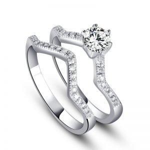 """Сребърен пръстен """"Дуо"""""""