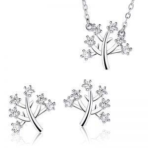 """Сребърен комплект """"Дървото на Живота"""""""