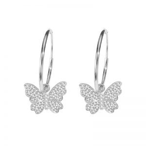 "Silver earrings ""Butterfly Chalky"""