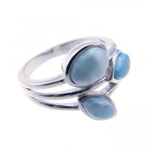 """Сребърен пръстен """"Ларимар"""""""