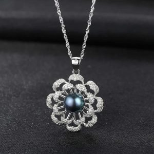"Silver necklace ""Blossom"""