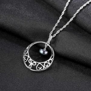 "Silver necklace ""Conception"""