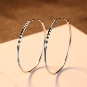 "Silver earrings ""Hoop"""