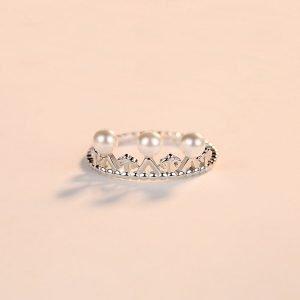 """Сребърен пръстен """"Перлено Съкровище"""""""