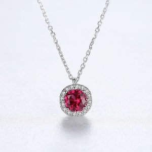 """Silver necklace """"Ruby"""""""