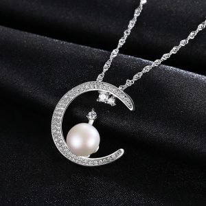 "Silver necklace ""Crescent"""