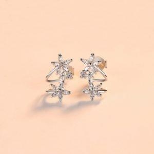 """Silver earrings """"Flora"""""""