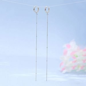 "Silver earrings ""Thread"""