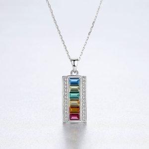 "Silver necklace ""Rainbow"""