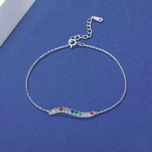 "Silver bracelet ""Rainbow"""